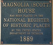 National Register of Historic Houses Placard